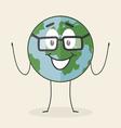 Cartoon planet vector image vector image