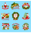 christmas winter holiday icon for xmas design vector image vector image