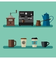 Coffee flat banner vector image