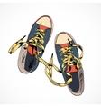Colored gumshoes sketch vector image vector image