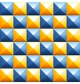 Colorful pyramids seamless pattern vector image