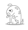 coloring page for children dog cartoon style vector image