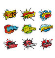 comics bubbles for shopping day and black friday vector image