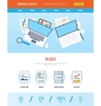 Design template with icons of financial strategy vector image vector image