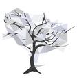 diamond christal tree vector image