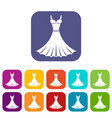 dress icons set vector image vector image