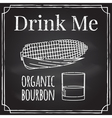 Drink me Elements on the theme of the restaurant b vector image