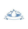 drop water and mountain lake emblem vector image