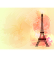 Eiffel tower background vector image