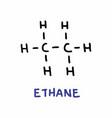 ethane formula vector image vector image