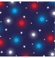 fireworks and stars on blue vector image vector image