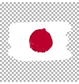 Flag of Japan on an empty background vector image vector image