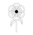 flower stem vector image vector image