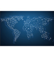 Global network mesh Earth map vector image