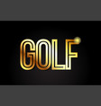 golf word text typography gold golden design logo vector image
