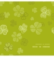 green clover textile texture frame corner pattern vector image vector image