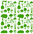 Green seamless template vector image vector image