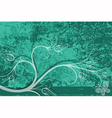 Grungy turquoise card vector image