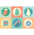 Happy New Year set of icon vector image