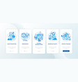 health education blue onboarding mobile app page vector image vector image