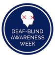 helen keller blind deaf awareness week vector image vector image
