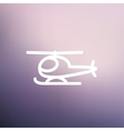 Helicopter thin line icon vector image vector image