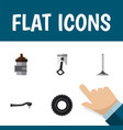 icon flat parts set of combustion engine valve vector image vector image