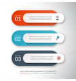 infographic concept with 3 options vector image