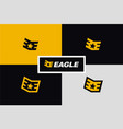 initial e eagle military rank wings logo vector image