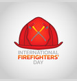 international firefighters day logo icon design vector image vector image