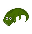 isolated cute crocodile on white background vector image vector image