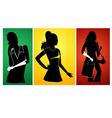 ladies silhouette vector image vector image