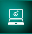 laptop update process with loading bar vector image vector image