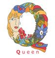 letter Q queen vector image vector image