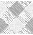 Monochrome seamless hipster pattern vector image
