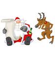 party christmas cartoon list vector image