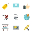 Promotion icons set flat style vector image vector image
