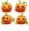 Pumpkin set for Halloween vector image