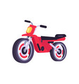 red motorbike stylish motor scooter transport item vector image vector image