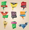 retro origami label 3 vector image vector image