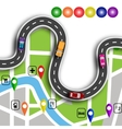 Road infographics Winding road with 3d signs The vector image vector image