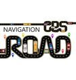 roads cars navigator tags the highway is vector image