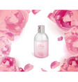 rose water image vector image