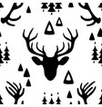 seamless pattern with deer heads vector image vector image