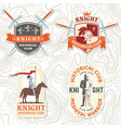 set knight historical club badge t-shirt vector image vector image