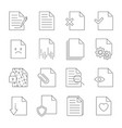 set of document flow management line icons vector image vector image