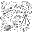 Set of space elements vector image vector image