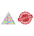 shopping pyramid composition of mosaic and grunge vector image