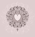 sketch of tattoo henna hearts vector image