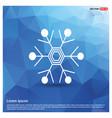 snow flake icon vector image vector image